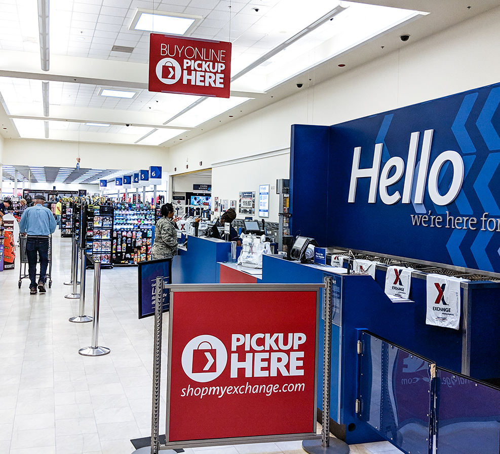 Besides the benefits to shoppers, the By Online, Pick Up in Store service is saves the Exchange money. Shipping to stores already receiving merchandise is less expensive than paying couriers to deliver to individuals.