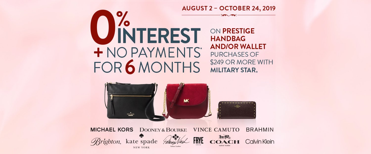 Military Star Handbag Promotion