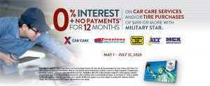 MILITARY STAR Car Care 0% promotion