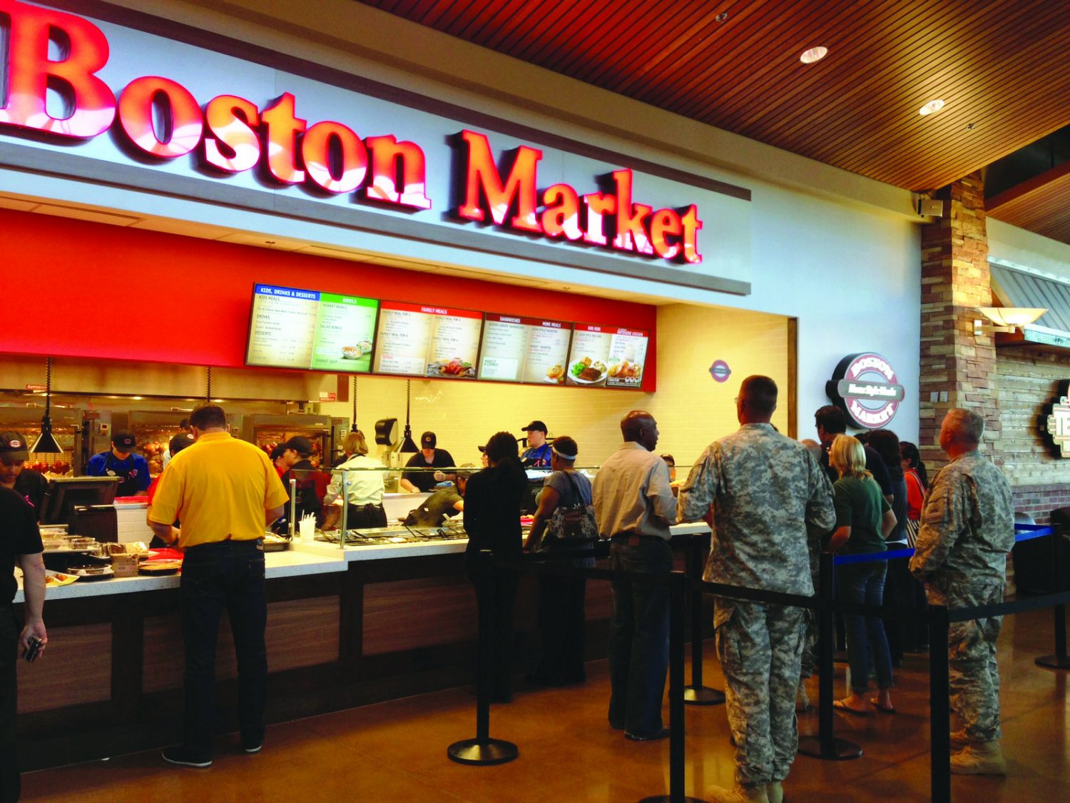 The growing presence of Boston Markets in Exchange food courts symbolized the Defense Department's largest retailer's efforts to expand the number of brand-name restaurants that have better-for-you options for Soldiers, Airmen and their families.