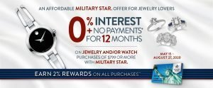Fine Jewelry/Watches 0% Interest Offer