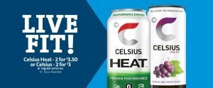 Express - Celsius Energy Drink 2/$3.50 or 2/$3