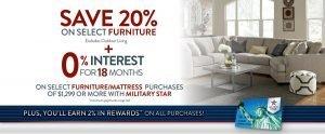 MILITARY STAR Furniture/Mattressacz FINANCE OFFER