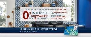 Major Appliance 0% Finance Offer