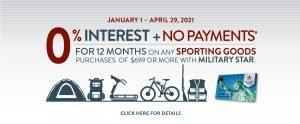 Sporting Good 0% Finance Offer