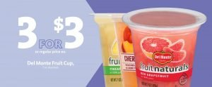 Express - Del Monte Fruit Cups 3 for $3