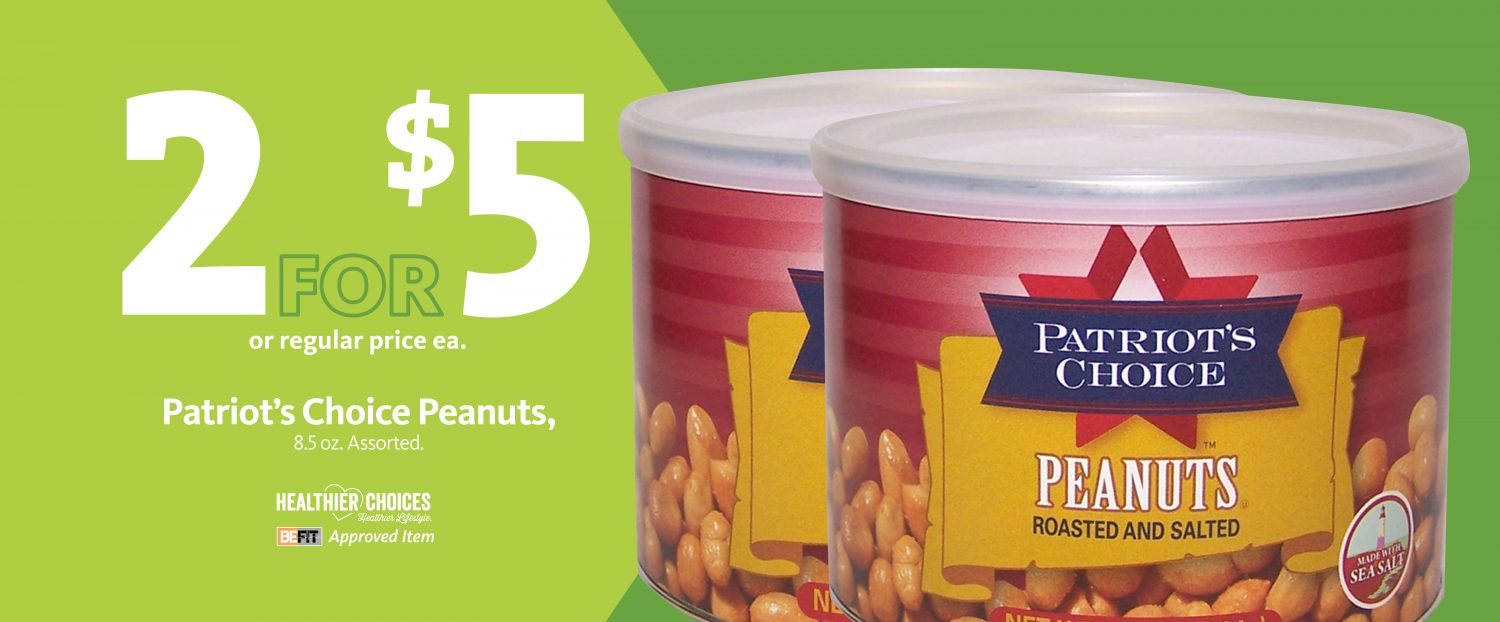 Express - Be Fit Patriot's Choice Peanuts 2/$5