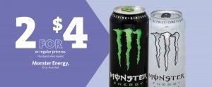 Express - Monster Energy Drink 2/$4