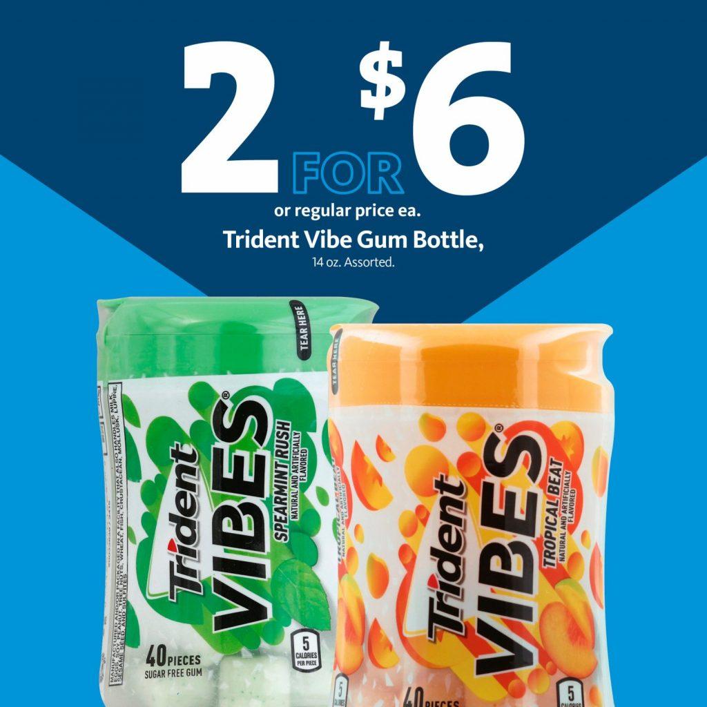 Express - Trident Vibes Gum 2/$6