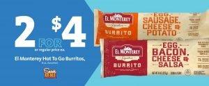Express - El Monterey Burritos 2/$4