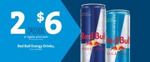 Express - Red Bull Energy Drink 2/$6