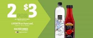Express - Lifewtr and Pure Tea 2/$3
