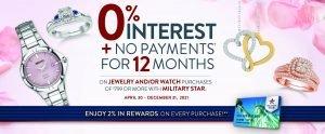 Jewelry 0% Finance Offer
