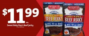 Express - Sweet Baby Rays Beef Jerky $11.99