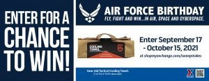 Air Force Birthday Cooling Towel Sweepstakes