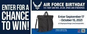 Air Force Birthday Helmet Bag Sweepstakes