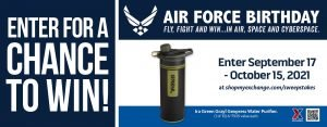 Air Force Birthday Water Purifier Sweepstakes