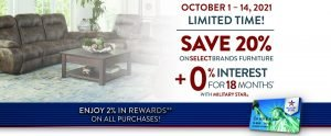 MILITARY STAR® Furniture/Mattress Offer