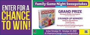 Family Game Night Sweepstakes