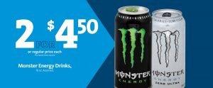 Express - Monster Energy Drinks 2/$4.50
