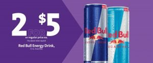 Express - Red Bull Energy Drink 2/$5