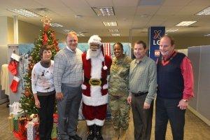 Santa visits LG