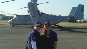 Puerto Rico Exchange associates Janice Ortiz and Elizabeth Caceres supported troops deployed to the Virgin Islands.