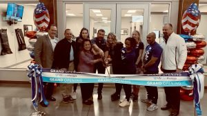 Exchange Managers and representatives from U.S. Cryotherapy open the new wellness facility at Fort Hood, Texas.