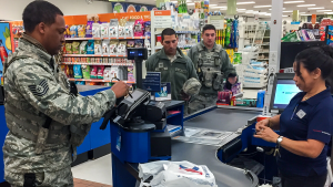 Airmen are among the first to shop at the Exchange at Tyndall AFB, Fla., after the main store opened Nov. 28 after Hurricane Michael decimated the installation.