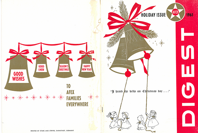 Holiday catalog for the Air Forces Europe Exchange (AFEX), which operated base exchanges in Europe and North Africa from 1951 to 1964.