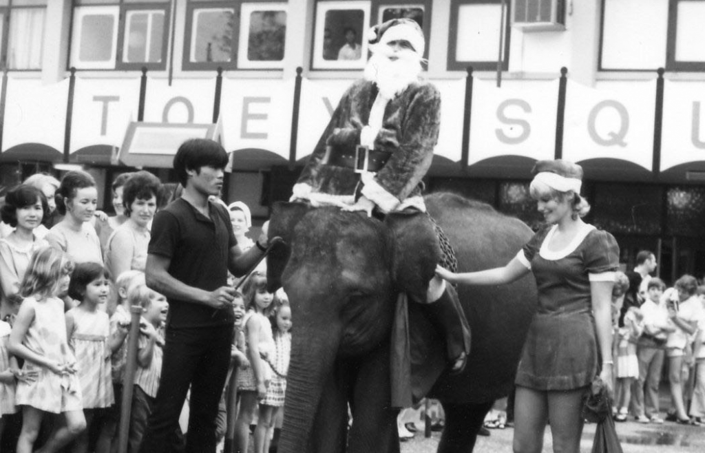 Bangkok, Thailand, 1972, in an Exchange shopping center for troops and families.