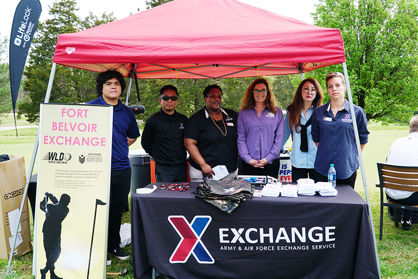 Exchange associates at table at Fort Belvoir, Va.