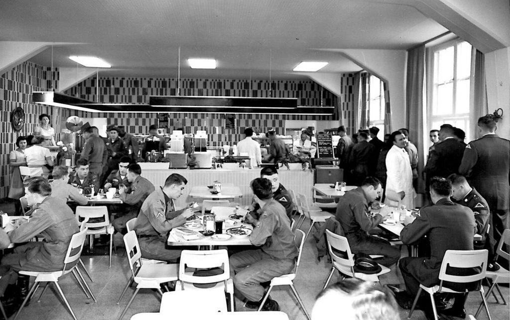 Fort Carson main restaurant, early 1960s.
