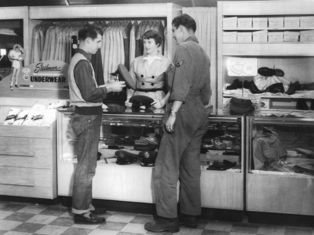 Kirtland AFB Military Clothing Store, 1953
