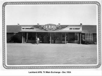 Lackland AFB, 1954, now known as Joint Base San Antonio-Lackland