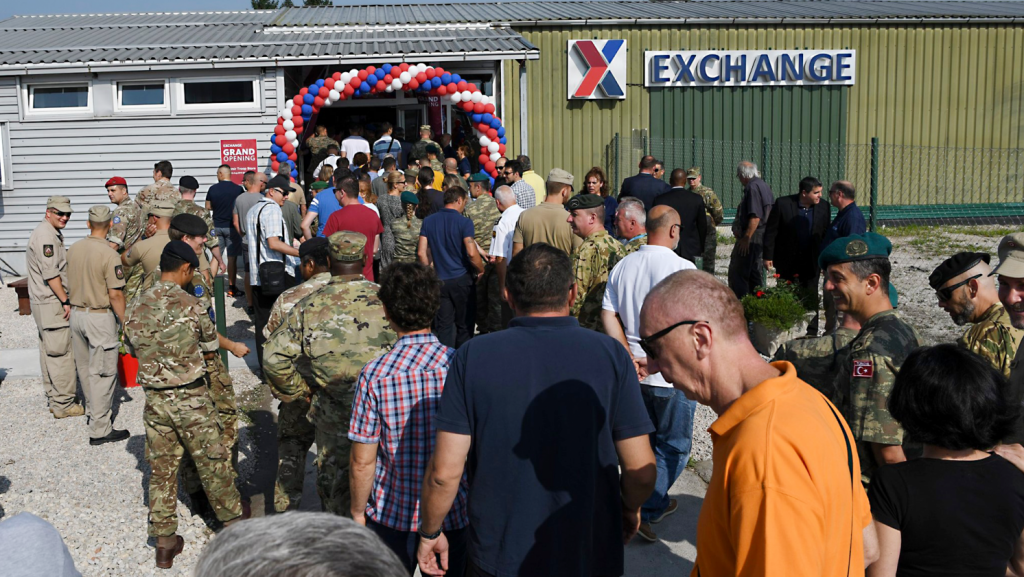 The Exchange continued its commitment to the Balkans with a new store at NATO headquarters.