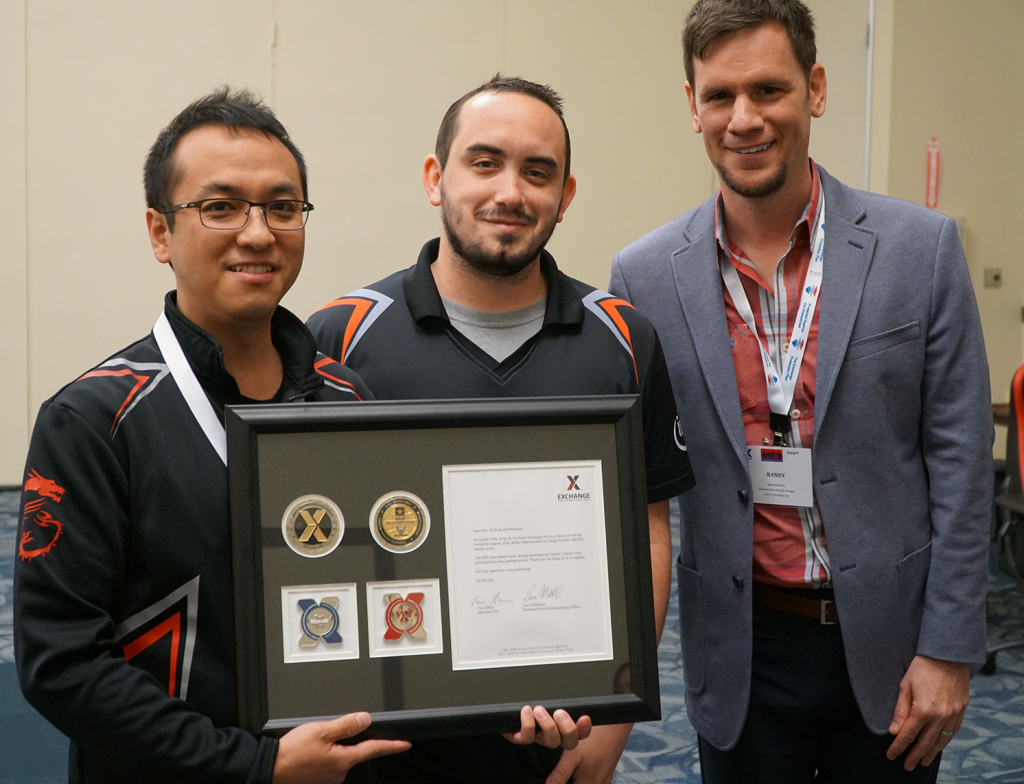 Cody Hayes, product training specialist, MSI; Eric Chan, account manager, MSI; Randy McKinley, divisional merchandising manager