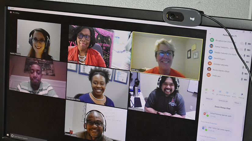 Call Center associates working remotely around the world receive virtual training.