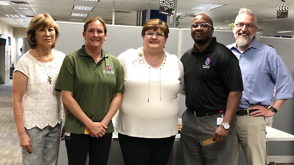 Left to right, EVP and Chief Logistics Officer Karen Stack; Logistics Analyst Sheri Rinker; Senior Vice President Karen Cardin; EVP and Chief Financial Officer Jim Jordan.