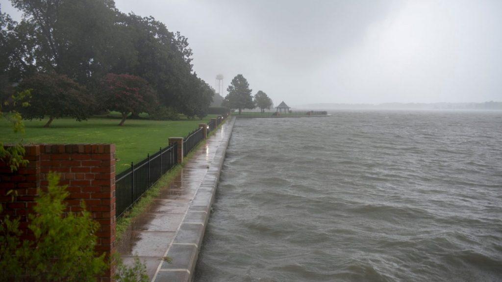 Water rises near Virginia's Langley AFB in the wake of Hurricane Dorian.
