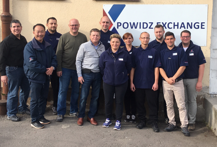 Exchange managers, associates at Powidz, Poland