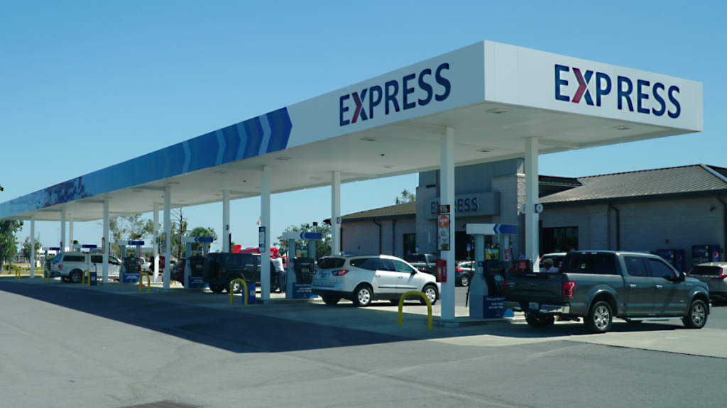 The Express at Tyndall AFB on Oct. 2, a year after Hurricane Michael plowed into the convenience store.