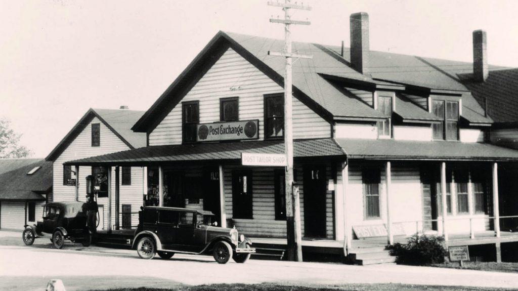 The post exchange at Vancouver Barracks, circa 1930.