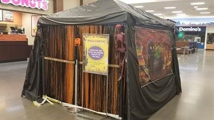"The Kirtland AFB Exchange's ""Mall-o-Ween"" haunted house display will be set up in the Exchange mall through the end of October."